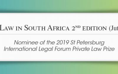 Child Law in South Africa 2nd edition – nominee of the 2019 St Petersburg International Legal Forum Private Law Prize