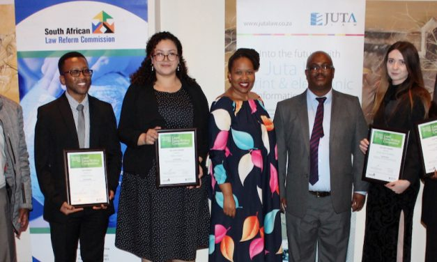 Legal writers shine at South African Law Reform Commission legal essay writing awards ceremony